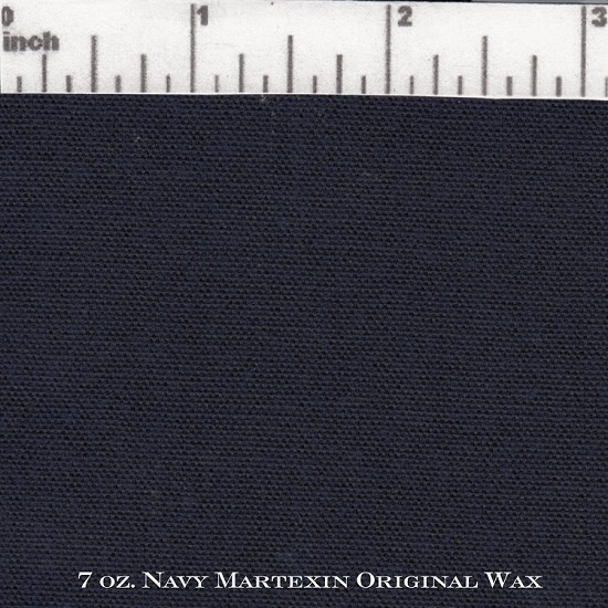 Navy 7 oz Sailcloth Martexin Original Wax