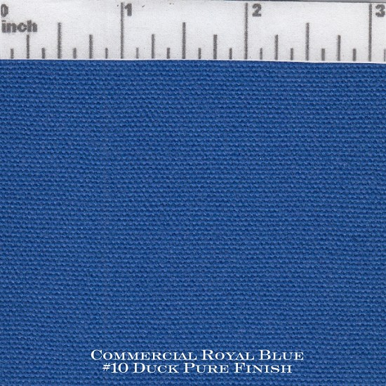 Commercial Royal Blue #10 Duck Pure Finish